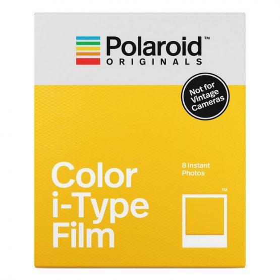 de Polaroid Original i-Type kleurenfilm speciaal voor de nieuwe Polaroid camera's