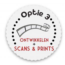 Optie 3 Ontwikkelen, Scannen en printen